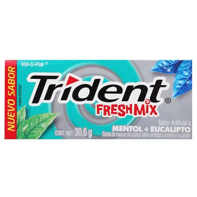 CHICLE TRIDENT VAL-U-PACK FRESH MIX 30.6G